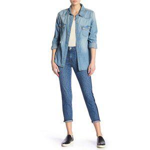 L'Agence Nika French Slim Jeans Leopard Print 24